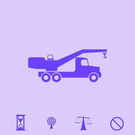 automotive industry: crane vector icon