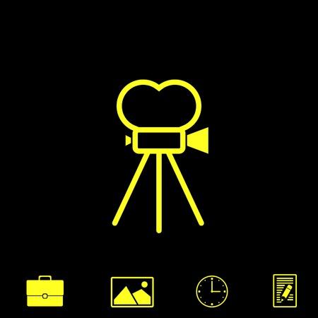 film industry: cinema vector icon Illustration