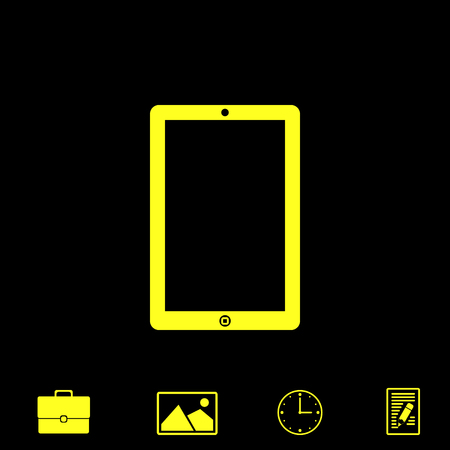 touchpad: touchpad vector icon Illustration