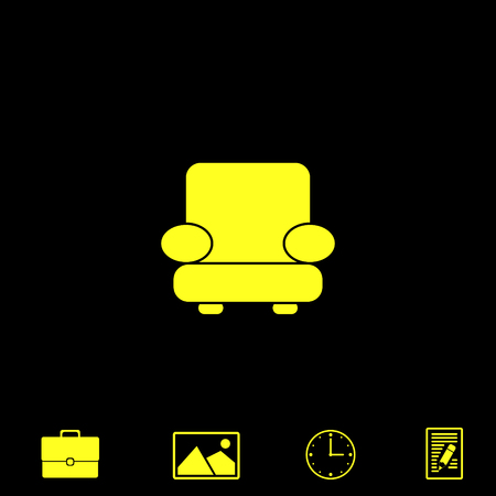 middle: easy chair vector icon