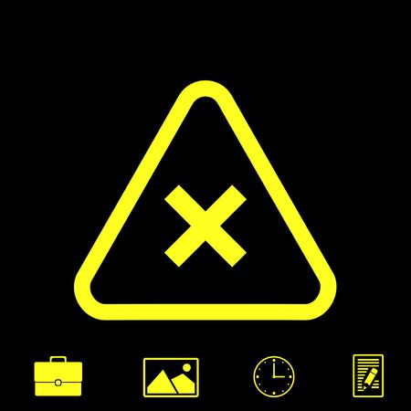 prohibition vector icon Illustration