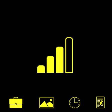 wireless communication: radio signal level vector icon