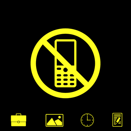 Apague el teléfono del icono del vector Foto de archivo - 83988307