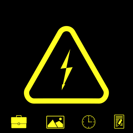 danger vector icon Illustration
