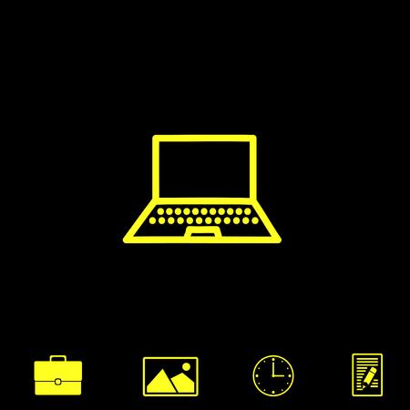 wireless communication: computer vector icon