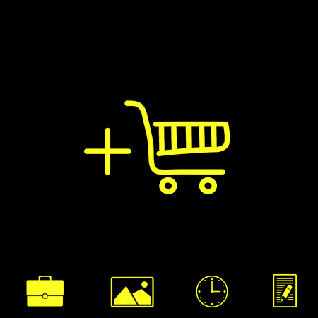supermarket: shopping chart vector icon