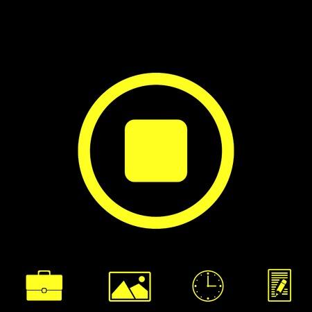 pause button: stop button vector icon