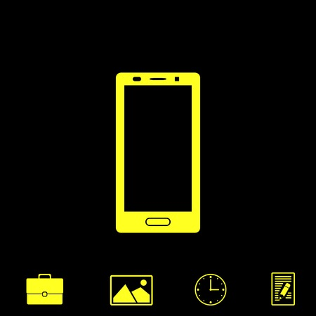 wireless communication: smartphone vector icon