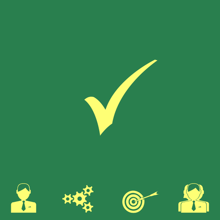 checklist: ok vector icon