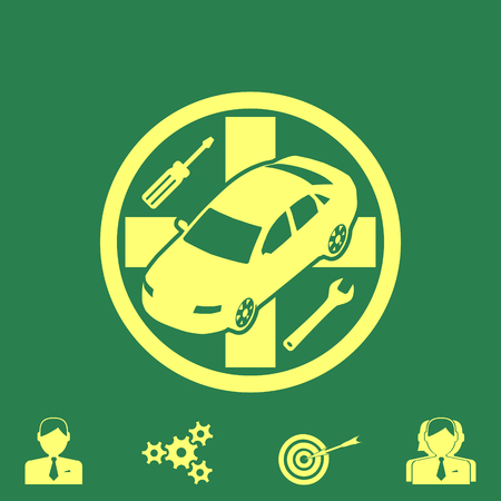 install: auto service vector icon