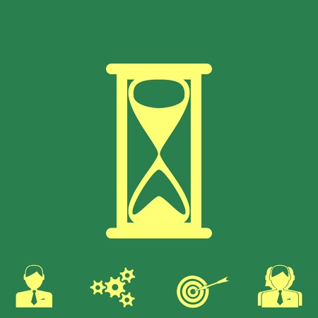 sand watch: hourglass vector icon