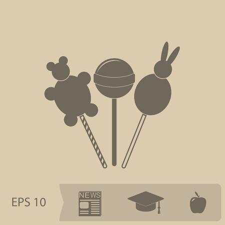 sucker: lollipop vector icon