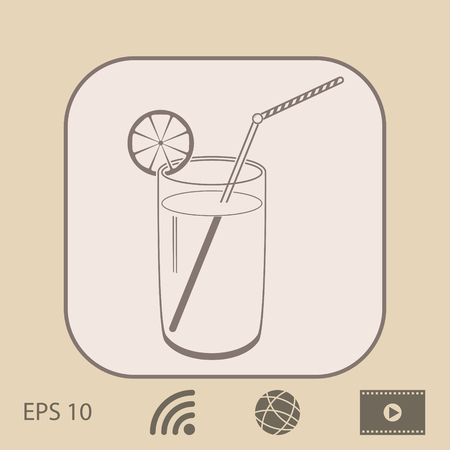 coldly: Cocktail  icon Illustration