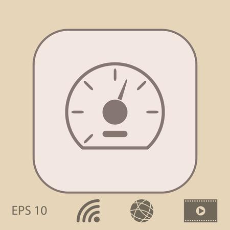 dashboard: Speedometer icon Illustration