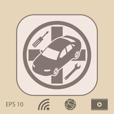 automotive industry: Auto service icon
