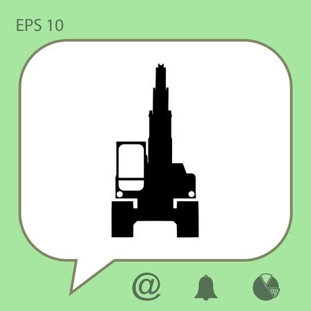 heavy: excavator vector icon