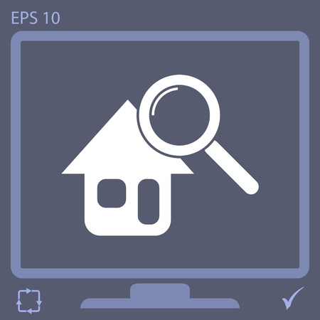 Searching for house vector icon