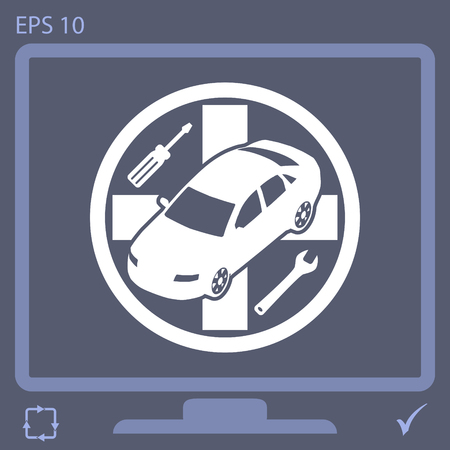 automotive industry: auto service vector icon