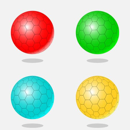 gloss: Abstract set of 3d ball. Color vector illustration.