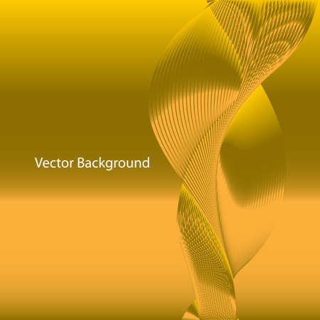 Vector abstract background. Line waves. For business, science, technology design. Illustration
