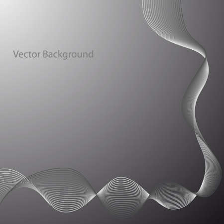 Abstract Gray Wave. Vector Abstract Background of Wave. Black and White Halftone Vector Illustration.
