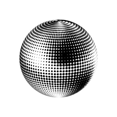 Abstract globe dotted sphere illustration.