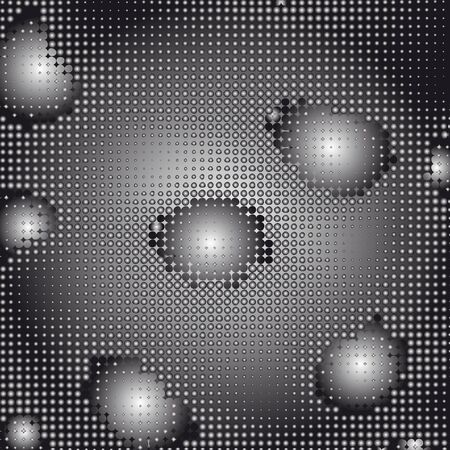 Abstract grunge halftone dotted background.