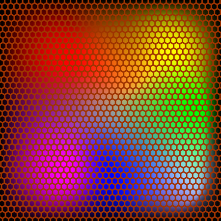 Colored dotted  texture steel background illustration. Illustration