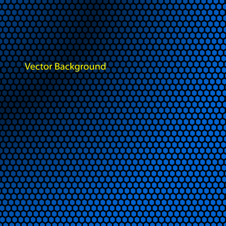 Blue carbon fiber textured abstract background.