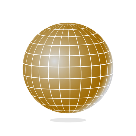 Abstract globe with meridians and parallels vector illustration.