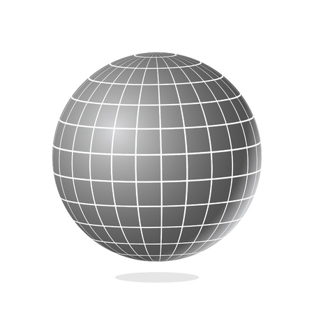 globe grid: Abstract globe with meridians and parallels vector illustration.
