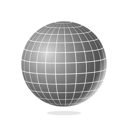 El globo abstracto con los meridianos y los paralelos vector el ejemplo. Ilustración de vector