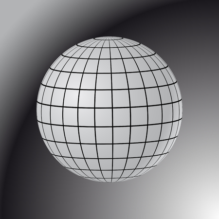 parallel world: Abstract Globe with Meridians and Parallels. 3d Vector illustration.