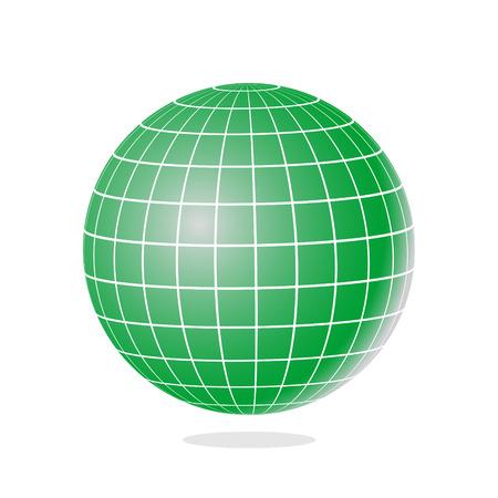 globe grid: Green globe icon.