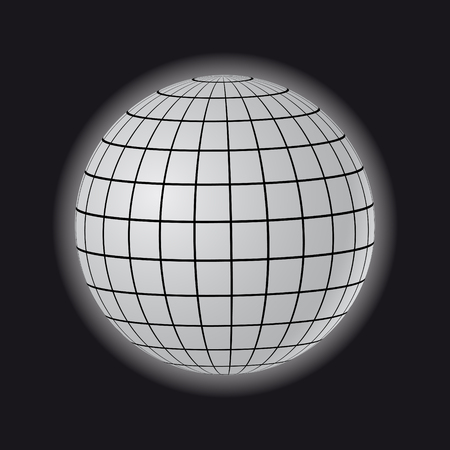 globe grid: Black globe illustration.