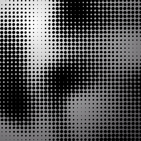 Black dot abstract pattern.