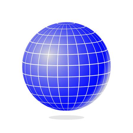 globe grid: Blue globe illustration.