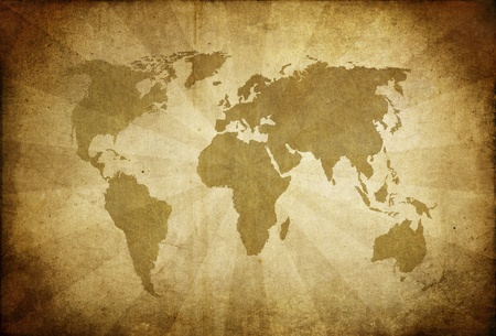 grungy background: vintage map