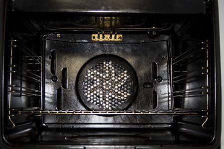 oven inside b&w
