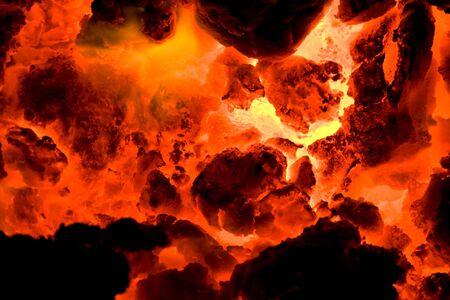 ember: red hot volcano ember 3 Stock Photo