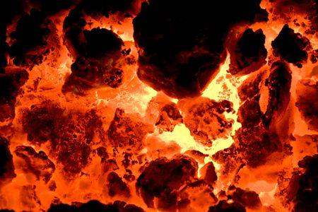 red hot volcano ember  Stock Photo - 4509819
