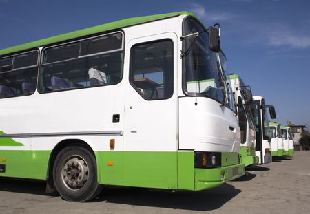 public transport, buses 2 Stock Photo