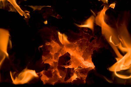 burning embers 7 Stock Photo - 6329484