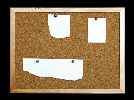 cork board on black background Stock Photo - 6448681