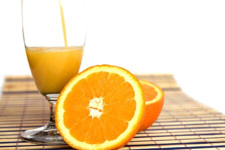 fresh orange juice on white Stock Photo - 6448612
