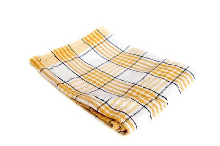 serviette de table sur fond blanc Banque d'images
