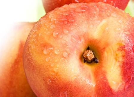 sweet ripe tasty peach photo