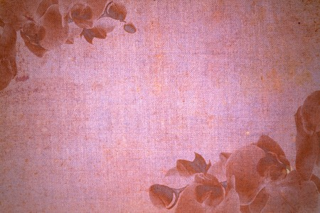 old vintage abstract paper with orchid motives photo