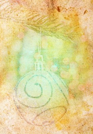vintage christmas background Stock Photo - 8211465