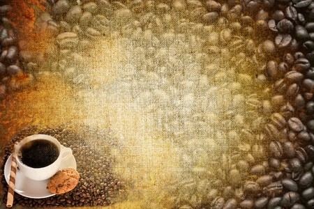 abstract vintage paper coffee motives photo